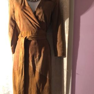 DVF Selma suede wrap dress.NWT. Size 0